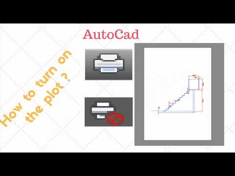 AutoCad How To Turn On Plot ? (1 minute tutorial)