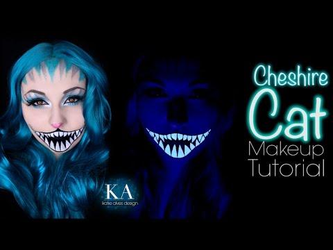 Cheshire Cat Black Light Makeup Tutorial - 31 Days of Halloween