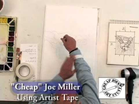 Using Artist Tape Without Tearing Your Paper, cheapjoes.com