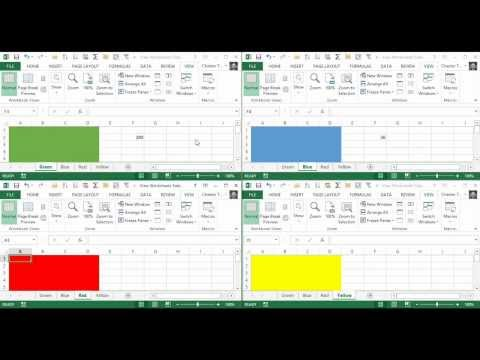 Tile/View Multiple Excel Worksheets (Within the Same Workbook)