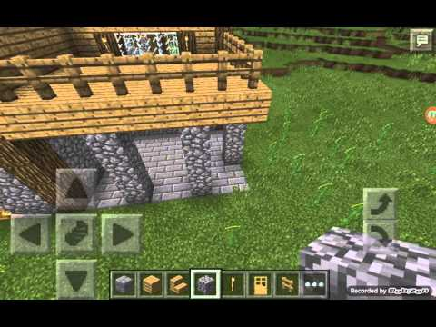 How to build a wooden house in minecraft pe part 5