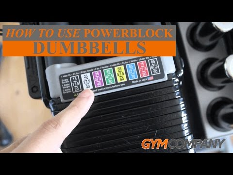 How to use Powerblock Dumbbells