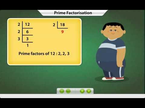 Maths- 4th Std: LCM by Prime Factorisation