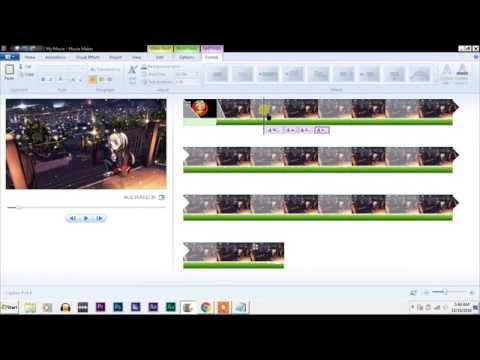 How to make Nightcore lyrics video using Movie Maker ?