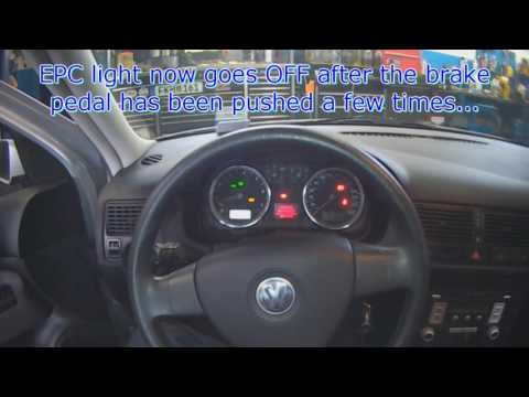 Vw A4 Epc Light Brake Switch Fault Code