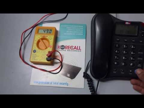 Telephone Line On-hook and Off-hook voltage guide