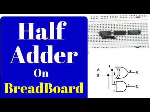 How to make a half adder on breadboard,step by step