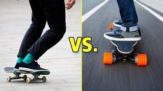 Skateboarding vs. Longboarding (Wins & Fails)