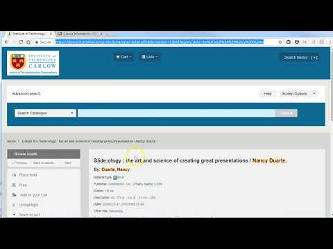 Creating a persistent link to a library record and add URL to Blackboard