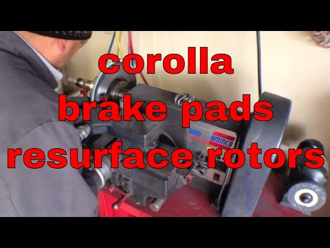 How to replace brake pads rotors '06-'13 Toyota Corolla √