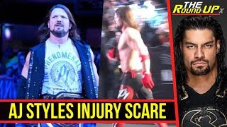 AJ Styles INJURY SCARE At #WWEMSG Live Event, Roman Reigns