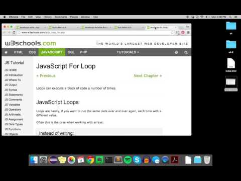 Loops: While, Do/While, and For (JavaScript)