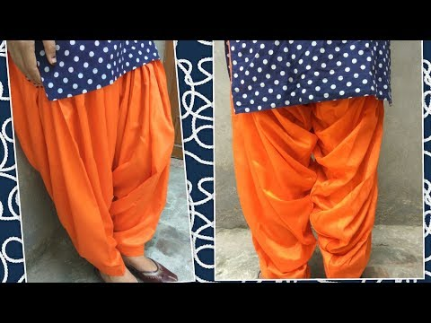 Patiala salwars cutting and stitching // very easy method