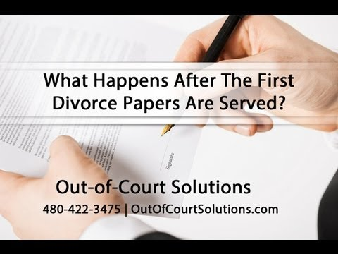 What Happens After The First Divorce Papers Are Served?