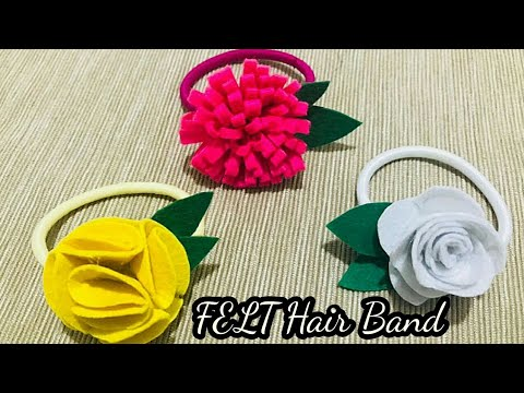 DIY- Felt Flowers Hair Band for kids/ how to make felt flowers/Easy and Simple hair accessories