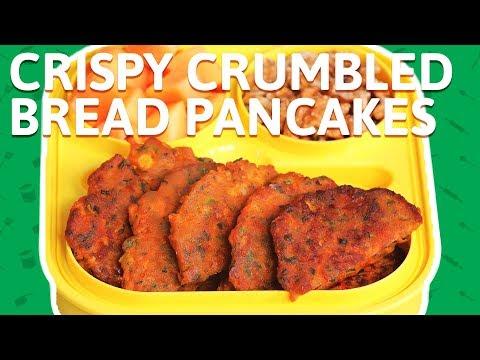 Crispy Crumbled Bread Pancakes - Easy To Make Bread Uttapam - Pancake Recipe For Kids Tiffin Box