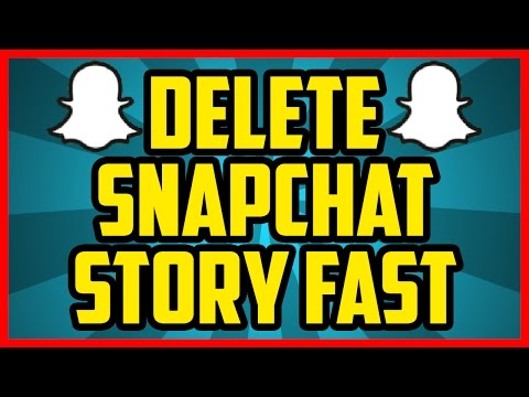 HOW TO DELETE YOUR SNAPCHAT STORY 2017 (QUICK & EASY) - Delete Pictures From Your Snapchat Story