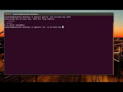 Ubuntu Linux - How to generate private and public key using OpenSSL