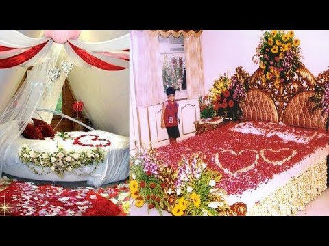 30 Lovely Marriage Night Room Decoration, Romantic and Classic Wedding Bed Designing Ideas, part 3