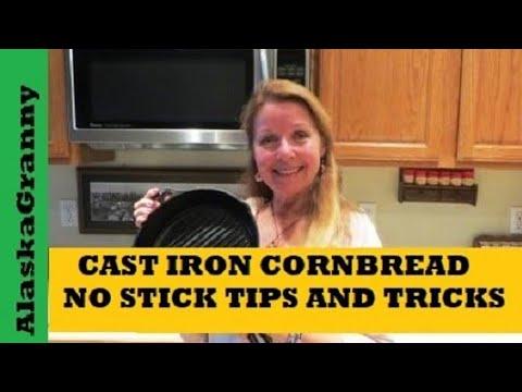 Cast Iron Cornbread - No Stick Tips