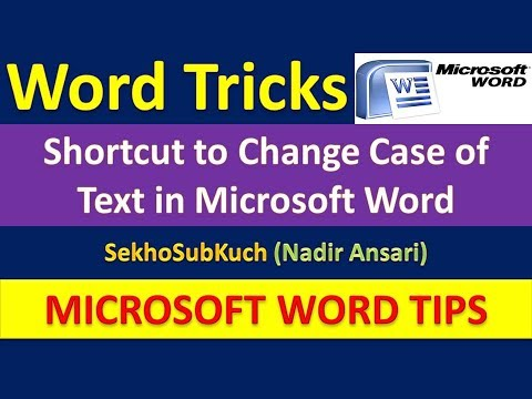 Shortcut to Change Case of Text in Microsoft Word : Word Tips and Tricks [Urdu / Hindi]