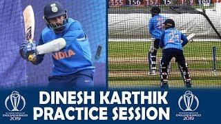 Dinesh Karthik Batting Practice Today | Net Session Full Video | ICC World Cup 2019 | Ind v Nz