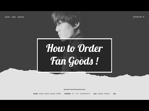 How to Order Fan Goods