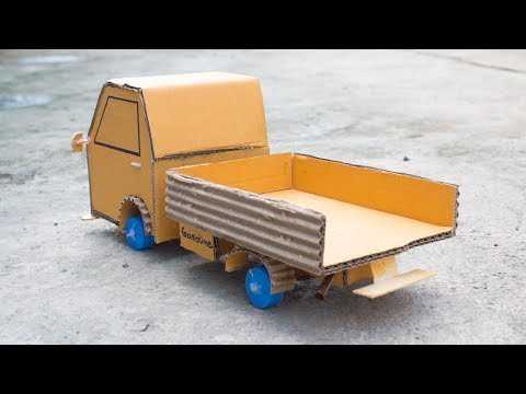How to make a toy truck out of cardboard easy at home (Cargo Truck)