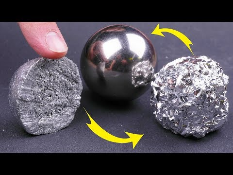 TRYING TO CUT POLISHED ALUMINIUM FOIL BALL