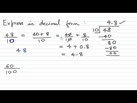 Convert Fractions to Decimal Numbers