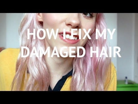 How I Fix My Bleached Damaged Hair