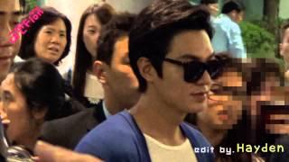[140704]lee Min Ho - 歐巴一路辛苦你了!!마노옵하~ 다녀오느라 고생이 많이 했지! Incheon Airport By Fion