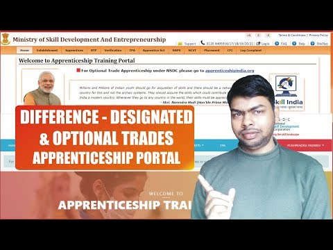 Differences Defined for Designated Trades & Optional Trades for Apprenticeship Training Portal