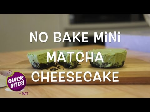 Quick Bites - No Bake Mini Matcha Cheesecakes