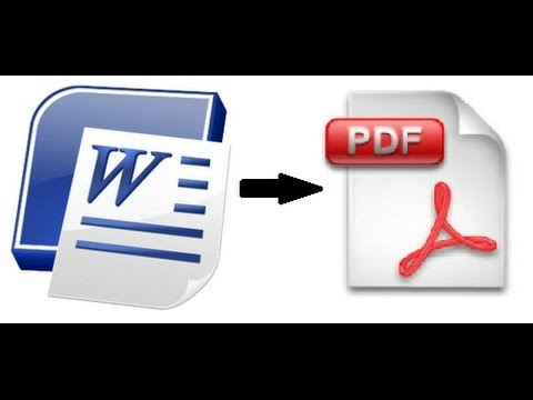 How To Convert a Word documents to PDF