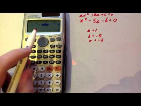 Solving Quadratic Equations - Casio fx-991ES