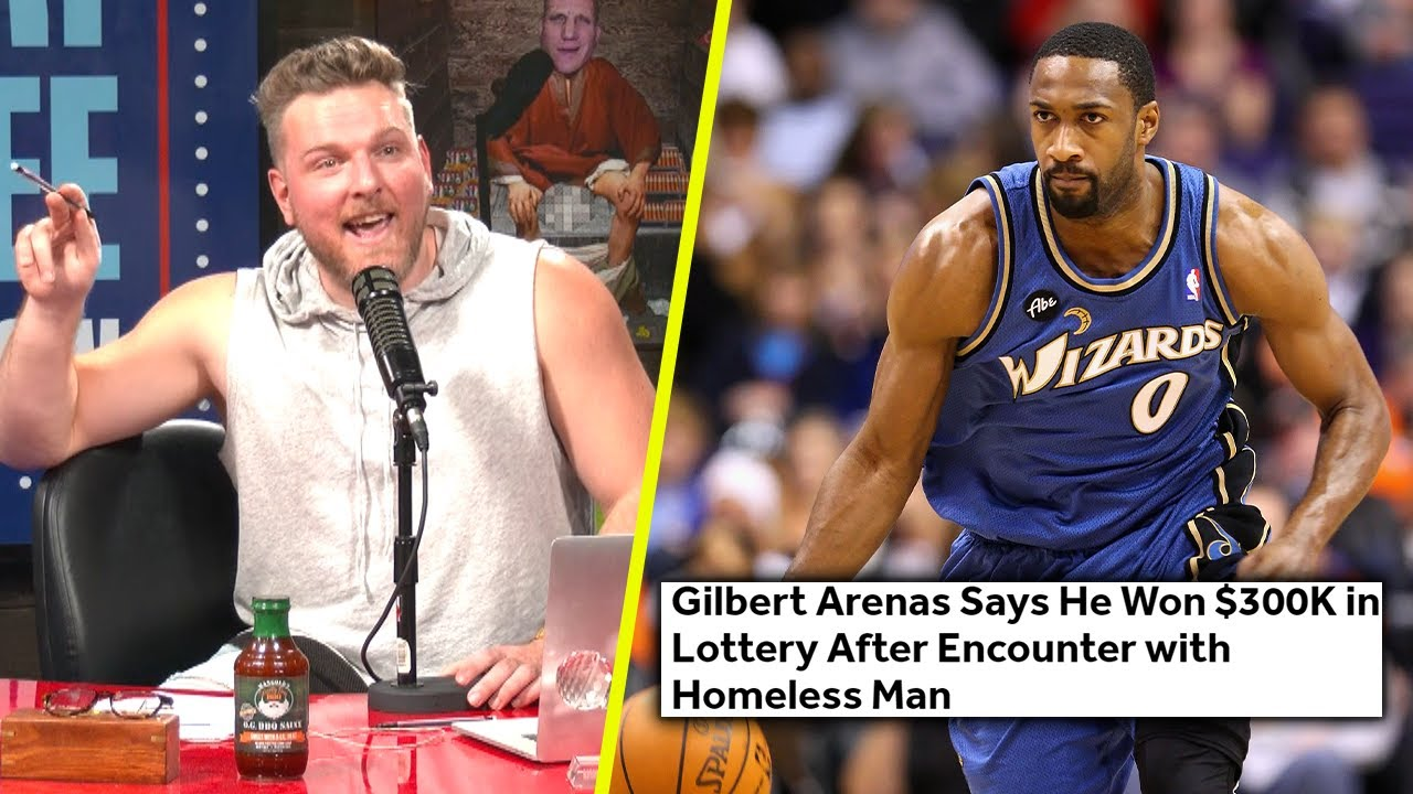 Pat McAfee Reacts To Gilbert Arenas Winning The Lottery Because Of A Homeless Man