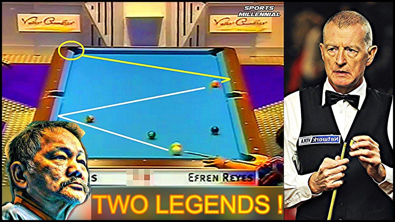"""When Efren """"BATA"""" Reyes meet the SNOOKER Legend Steve Davis"""