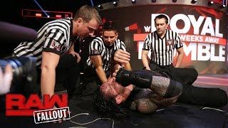 Roman Reigns recovers after Raw goes off the air: Raw Fallout, Jan. 16, 2017