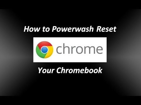 How to Reset your Chromebook Powerwash