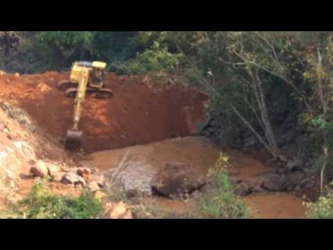 Making of a small dam