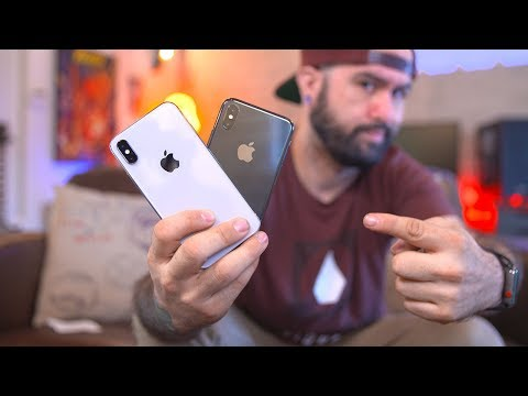 iPhone X Silver vs Space Gray: Unboxing & Impressions vs iPhone 8 Plus