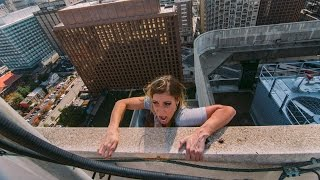 FALLING OFF 350 FOOT ROOF!!!