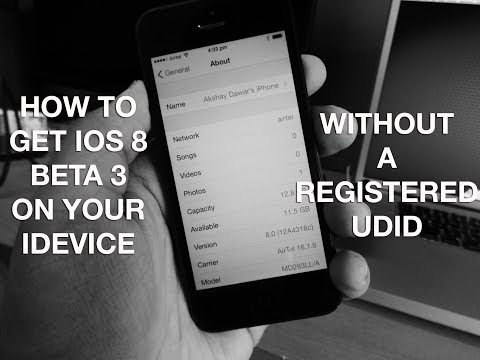 How to install iOS 8 Beta 3 for FREE without a Registered UDID or Developer Account !