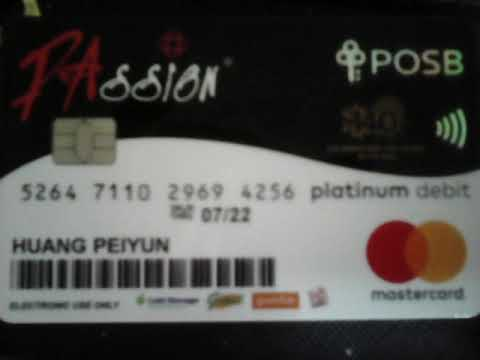 Passion card bank Posb