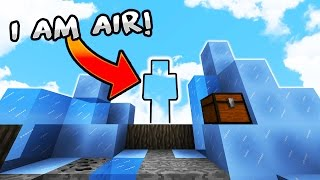 """I Am AiR"" - Minecraft SkyWars Trolling! (I Am Stone CHALLENGE)"