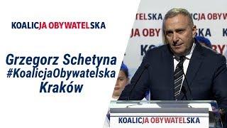 Przewodniczący Grzegorz Schetyna, Regionalna Konwencja Wyborcza #KoalicjaObywatelska, Kraków.