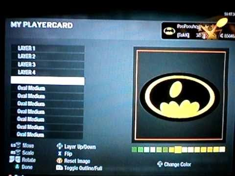 How To Make Cool Black Ops Emblems - Batman Logo