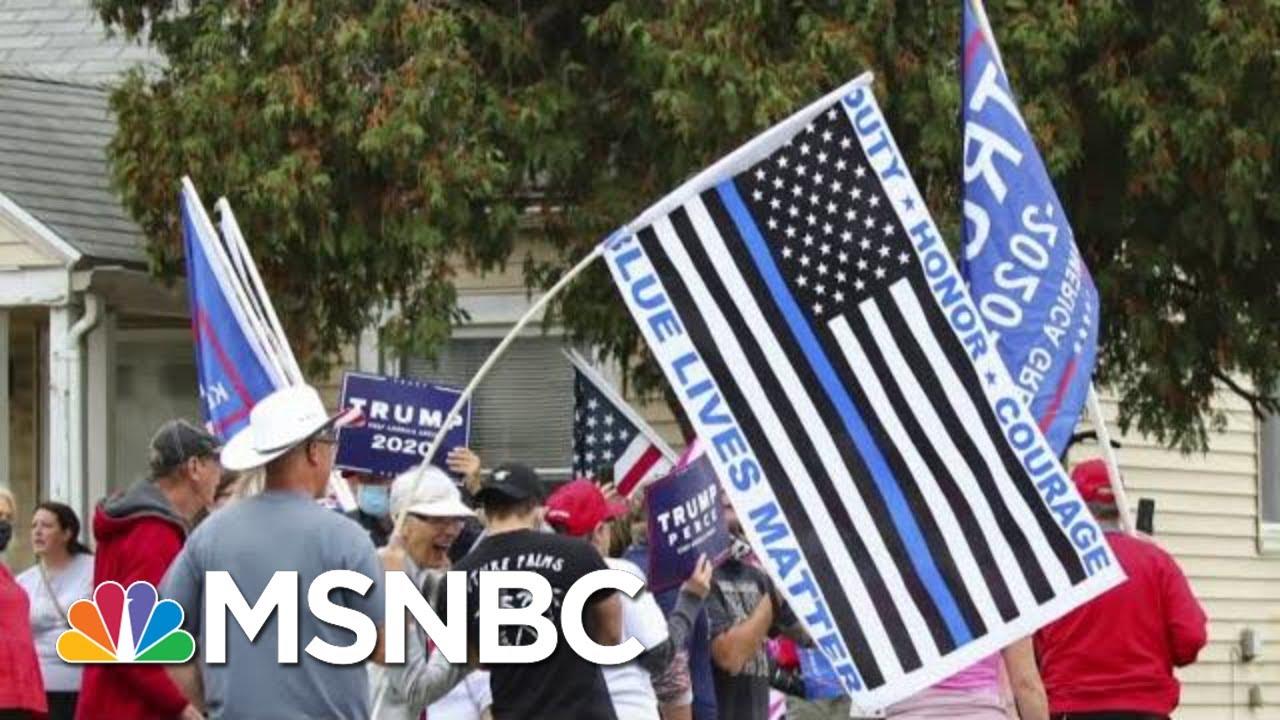 Trump Hypocrisy Exposed: MAGA Fans Shred 'Blue Lives Matter' Rhetoric At Riot | The Beat With Ari