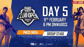 [Hindi] PMCO India Group Stage Day 5   Spring Split   PUBG MOBILE CLUB OPEN 2020